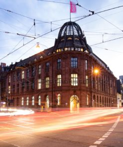 Berufsverkehr in der Saarbrücker Innenstadt am Abend, Dudweilerstraße - Bildtankstelle.de