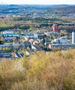 Blick vom Schwarzenbergturm Richtung Universität , Saarbrücken, Saarland - Bildtankstelle.de