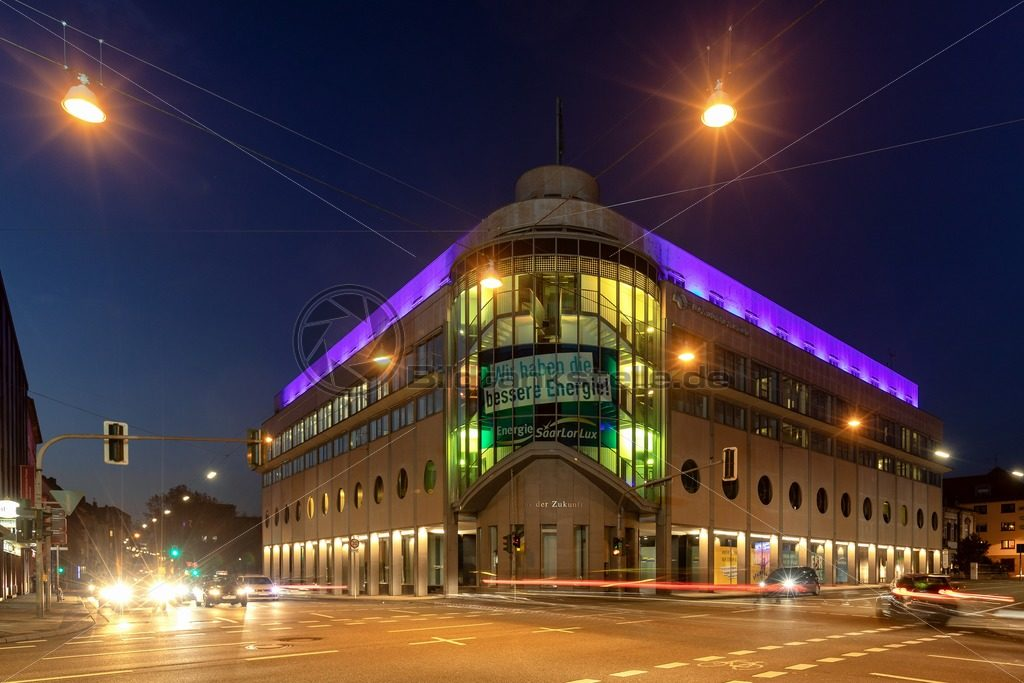 Gebäude der Energie SaarLorLux, Saarbrücken, Saarland - Bildtankstelle.de