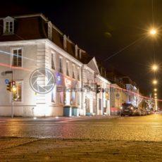 Bick in die nächtliche Mainzerstraße, Saarbrücken, Saarland - Bildtankstelle.de