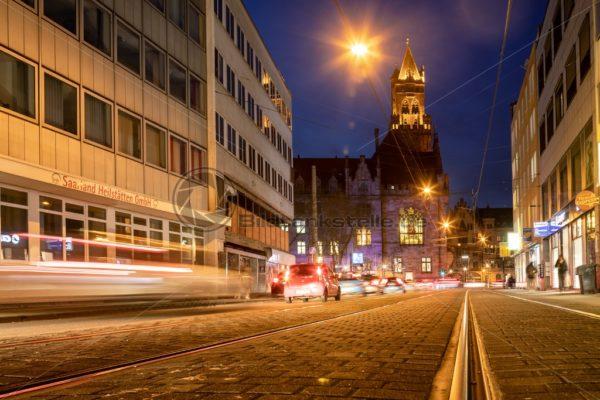 Blick auf das Rathaus von Saarbrücken, Saarland - Bildtankstelle.de