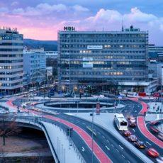 die neue Wilhelm-Heinrich Brücke, Saarbrücken, Saarland - Bildtankstelle.de