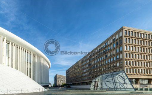 Schuman Gebäude und Philharmonie Luxembourg - Bildtankstelle.de